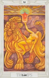The Major Arcana Card Lust, from the Thoth Deck