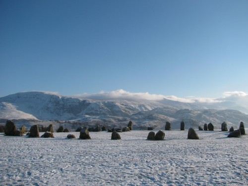 Castlerigg Stone Circle on ice