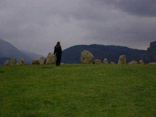 Castlerigg Stone Circle from a distance