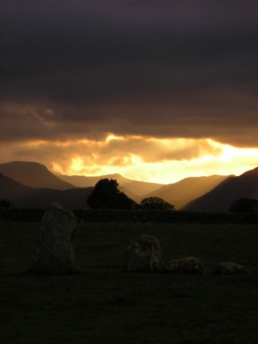 Castlerigg Stone Circle at Dusk